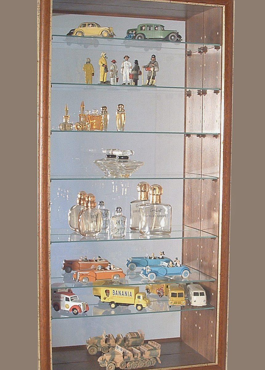 vitrine en bois et verre, petite vitrine en bois, vitrine pour collectionneur